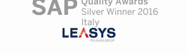 A Leasys il SAP Quality Awards 2016