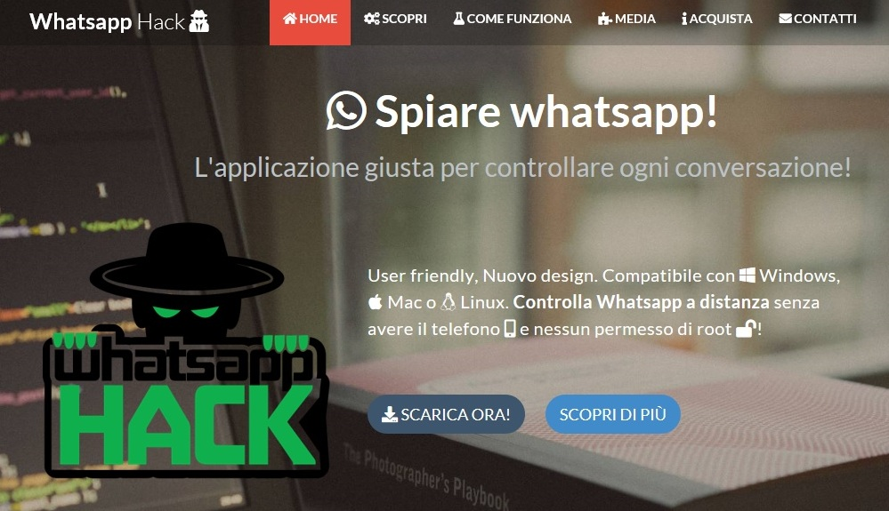 whatshack, app spia WhatsApp