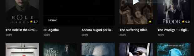 La comodità di guardare film horror in streaming