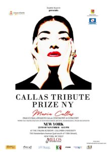 Callas Tribute Prize New York