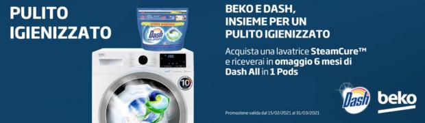 Beko e Dash, insieme per un pulito igienizzato