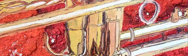 La pittura di Roberto Re celebra ed esalta l'amore per la musica