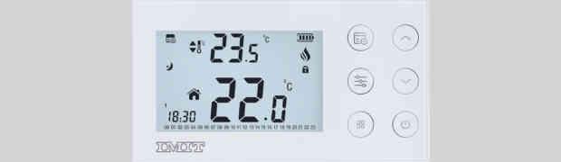 Silver CR di IMIT Control System. Design essenziale per il massimo comfort termico