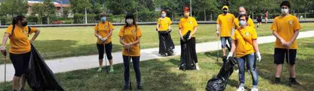 Il parco Tarello ripulito dai Ministri Volontari di Scientology